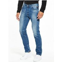 Replay Grover Slim Fit Jeans, Mid Wash, Size 36, Length Long, Men