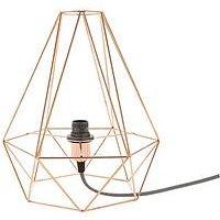 Harlow Copper Diamond Table Lamp