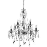 Product photograph showing Luxe Collection Century 9 Light Chandelier