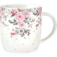 Portmeirion Canterbury Grey Spot Mugs Set Of 2