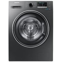 Samsung Ww70J5555Ex/Eu 7Kg Load, 1400 Spin Washing Machine With Ecobubble&Trade; Technology And 5 Year Samsung Parts And Labour Warranty - Graphite