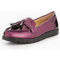 V by Very Anastasia Older Girls Tassel Shoe, Purple, Size 2 Older