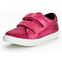 Mini V by Very Anna Twin Strap Trainer, Hot Pink, Size 9 Younger