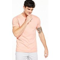 V by Very Crew Neck T-shirt, Pale Pink, Size Xl, Men