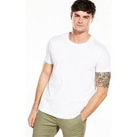 V by Very Crew Neck T-Shirt - White, White, Size Xs, Men