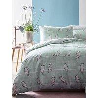 Ideal Home Bird Print Duvet Cover Set - Sb