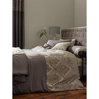 Ideal Home Victoria Chenille Damask Duvet Cover Set