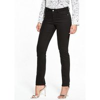 V by Very Tall Isabelle Slim Leg Jean, Black, Size 18, Inside Leg Xlong, Women