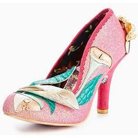 Irregular Choice Evening Stroll Court Shoe - Pink, Pink, Size 7, Women