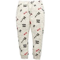 Mini V by Very Boys Rock Star Marl Joggers, Grey/Black, Size Age: 3-4 Years