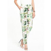 V by Very Printed Trouser, Print, Size 8, Women