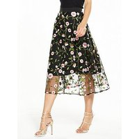 V By Very Embroidered Full Skirt