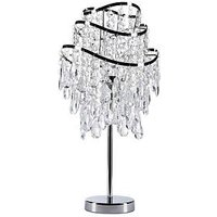Product photograph showing Vincenza 3-tier Wave Table Lamp