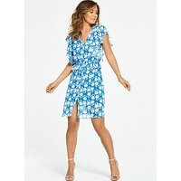 Myleene Klass Ditsy Floral Printed Tea Dress, Print, Size 16, Women