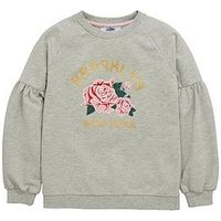 V by Very Volume Sleeve Sweat, Grey, Size Age: 16 Years, Women