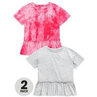 V by Very 2pk Ruffle Tops, Multi, Size Age: 11 Years, Women