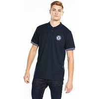 Chelsea Source Lab Chelsea Fc Mens Tipped Polo, Navy, Size S, Men