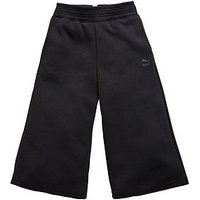 Puma Older Girl Velvet Rope Pants, Black, Size 13-14 Years, Women