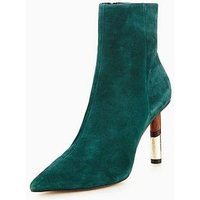 KG Raine Stilleto Ankle Boot, Green, Size 8, Women