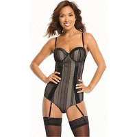 Myleene Klass Open Mesh Multiway Control Body - Black, Black, Size 34Dd, Women