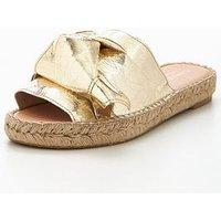Carvela Kurry Np Slide Espadrille - Gold, Gold, Size 4, Women