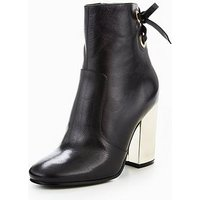 Nine West Nine West Chandice High Heel Boot With Lace & Eyelet Detail, Black, Size 5, Women