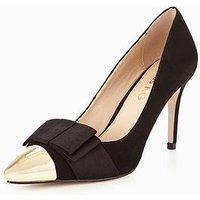 Miss KG Alyssa Bow Court Shoe, Black, Size 7, Women