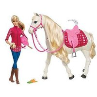 Barbie Doll With Her Dreamhorse