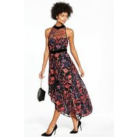 V By Very Premium Embroidered High Low Dress