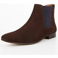 KG Kg Harrogate2 Chisel Toe Suede Chelsea Boot, Brown, Size 8, Men