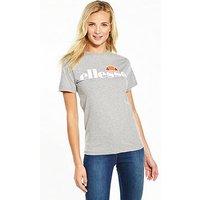 Ellesse Heritage Albany T-Shirt - Grey Marl , Grey Marl, Size 8, Women