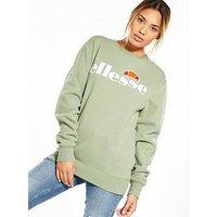 Ellesse Heritage Agata Sweatshirt - Olive, Green, Size 10, Women