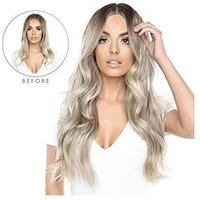 Beauty Works Double Hair Set Clip-In Extensions - NEW Root Blend Colour Collection 18 Inch 100% Remy Hair - 180 grams, Dubai, Wo