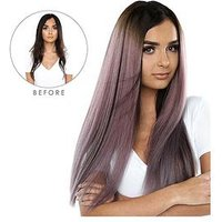 Beauty Works Double Hair Set Clip-In Extensions - NEW Root Blend Colour Collection 22 Inch 100% Remy Hair - 220 grams, Mauve Met