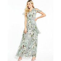 V By Very Frill Printed Maxi Dress