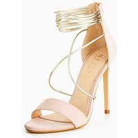 OFFICE Hollywood Heeled Sandal, Nude, Size 8, Women