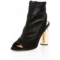 OFFICE Ariana Peeptoe Ankle Boot, Black, Size 3, Women