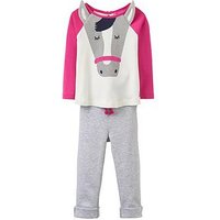 Joules Baby Girls Amalie Novelty 3d Ears Outfit, Pink, Size 9-12 Months