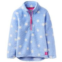 Joules Girls Merridie Blue Star Fleece, Sky Blue, Size Age: 1 Year, Women