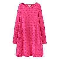 Joules Girls Claribel Spot Trapeze Dress, Fuchsia, Size 4 Years, Women