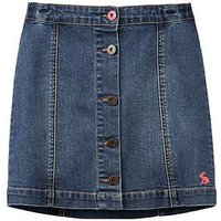 Joules Girls Vickie A Line Denim Skirt, Denim, Size Age: 5 Years, Women