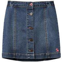 Joules Girls Vickie A Line Denim Skirt, Denim, Size Age: 7-8 Years, Women
