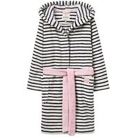 Joules Girls Teddy Novelty Dressing Gown, Navy Stripe, Size Age: 11-12 Years, Women