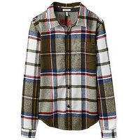 Joules Boys Hamish Everglade Tatan Brushed Cotton Shirt, Green Tartan, Size 6 Years