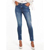 V by Very Tallia Mid Rise Skinny Jean, Dark Wash, Size 18, Women