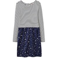 Joules Girls Orianne Cocoon Dress, White Stripe, Size 11-12 Years, Women