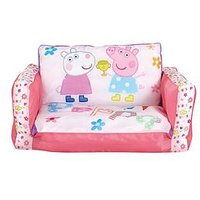 Product photograph showing Peppa Pig Flip Out Mini Sofa