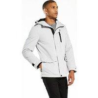 V by Very Tech Jacket, Light Grey, Size Xs, Men