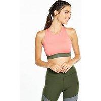 adidas Halter Sports Bra - Rose , Rose, Size M A/B, Women