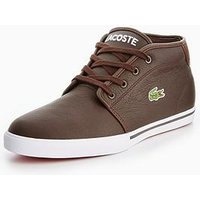 Lacoste Ampthill Lcr3 Chukka Boot, Dark Brown, Size 8, Men